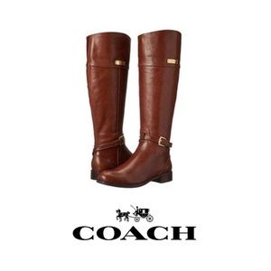 Coach • Brown Leather Boots EUC